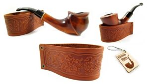 New Genuine Leather Pipe Stand